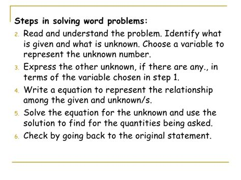linear equations in two variables word problems worksheet