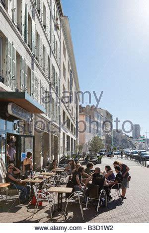 bar vieux port marseille harbourfront cafe bar on the quai des belges vieux port district stock photo royalty free