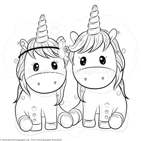 Kleurplaat Kawaii Unicorn by Unicorn Coloring Pages Getcoloringpages Org