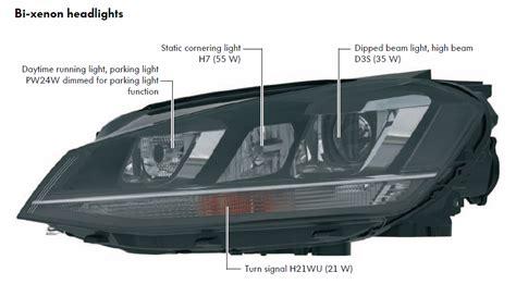 xenon headlights u shape light golfmk7 vw gti mkvii