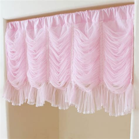pink ruffle curtain topper pink ruched ruffle waterfall austrian balloon cafe by