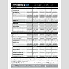 P90x2 Worksheets