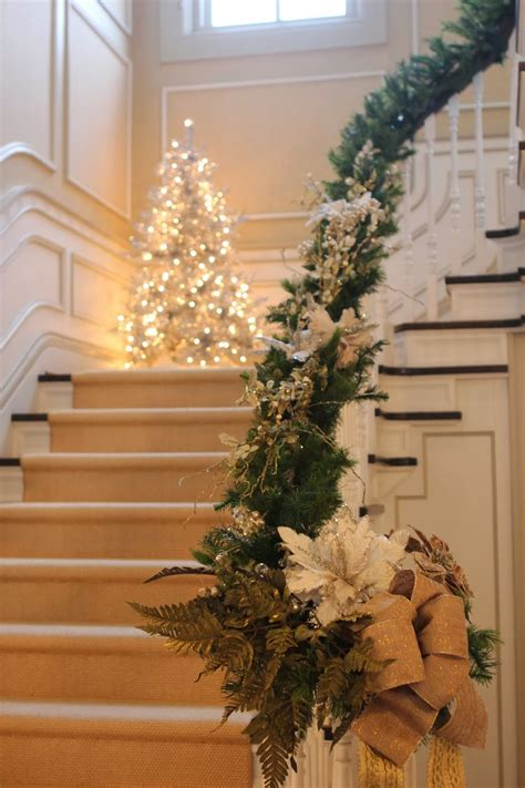 christmas staircase 50 stunning christmas staircase decorating ideas style estate