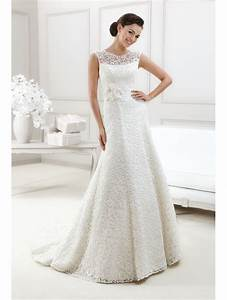agnes 11713 all over lace wedding dress ivory with lace With all lace wedding dress
