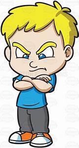 A Mad And Angry Boy Cartoon Clipart - Vector Toons
