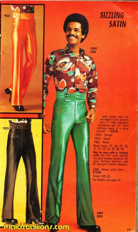 real men wore flared trousers  flowery