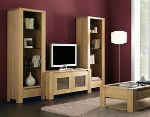 Meuble TV En Chne Massif De Style Contemporain Meuble