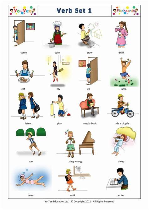 verbs flashcards  spanish  toddlers verbos