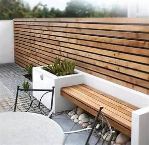 amenagement jardin exterieur et idees deco cosy en 40 photos With awesome idee terrasse exterieure contemporaine 9 amenager votre cour leroy merlin
