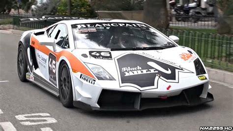 lamborghini gallardo supertrofeo race car  public roads