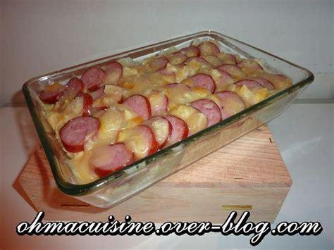 cuisiner la saucisse de morteau recette gratin de farandelles 224 la saucisse de morteau