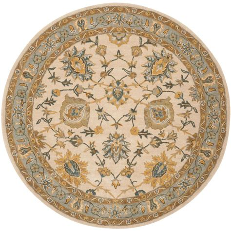 Blue Round Rugs 6 Feet by Safavieh Classic Ivory Light Blue 6 Ft X 6 Ft Round Area