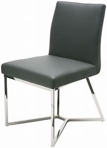 Patrice Grey Naugahyde Dining Chair From Nuevo Coleman
