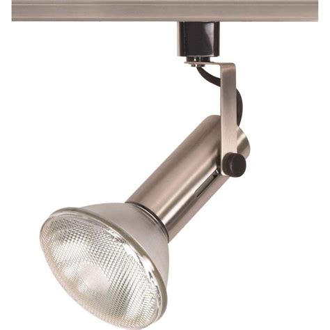 glomar 1 light 2 in brushed nickel universal holder track