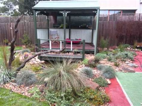 Australian Backyard - the of an australian backyard with pond part
