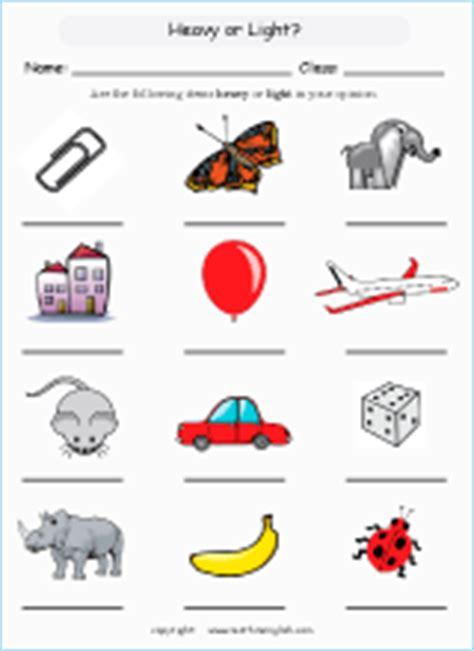 objects  lighter   objects  heavier