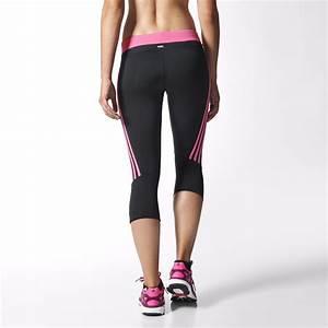 Adidas Womens Response 3 4 Tights Black Solar Pink