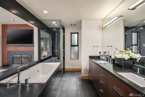 Modern Bathroom Counter Designs by 55 Sleek Modern Master Bathroom Ideas Photos