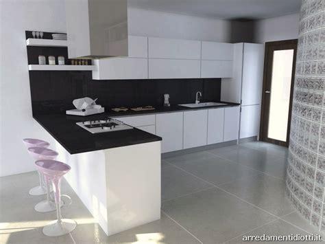 Cucina Horizon laccata bianco lucido DIOTTI A&F Arredamenti