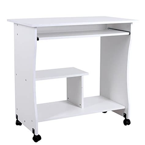 table pour ordinateur de bureau songmics bureau informatique roulant table informatique