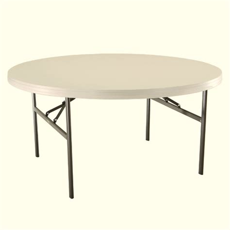 round folding table lowes shop lifetime products 60 in x 60 in circle steel white