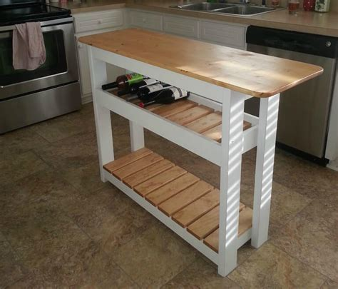 how to build a movable kitchen island diy kitchen island with wine rack by