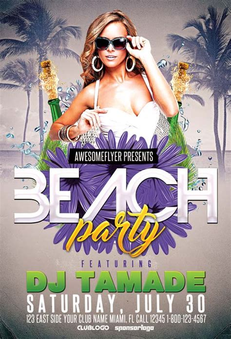 free summer c flyer template summer club free flyer template