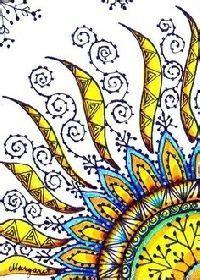Zentangle ZEN Group ;-) SUMMER Bookmark - Swap-bot | Sun ...