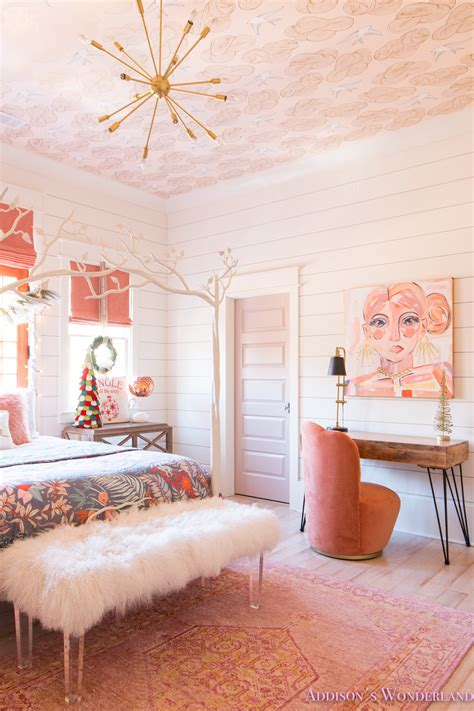 See more ideas about bedroom decor, decor, home decor. A Little Christmas Decor in Addison's Coral Girl's Bedroom ...
