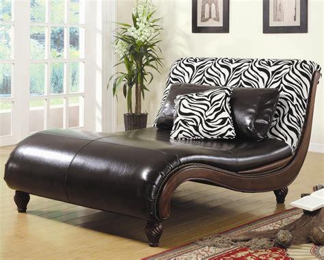 zebra animal print chaise lounge by coaster 550061