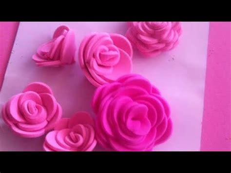 Como hacer rosas de Fomi sin molde paso a paso YouTube