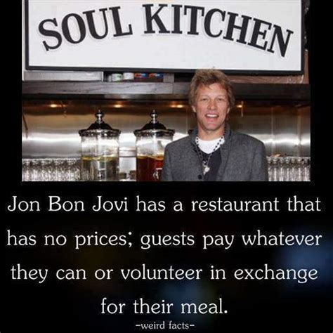 Jon Bon Jovi Has Restaurant That Prices Buz