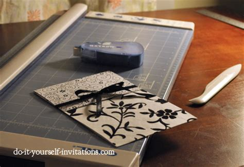 black and white wedding invitations diy ideas