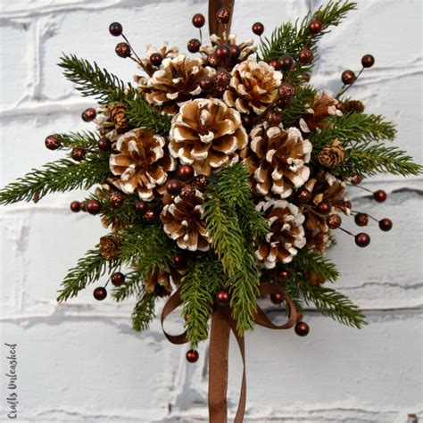 pine cones for crafts diy kissing ball with pine cones crafts unleashed
