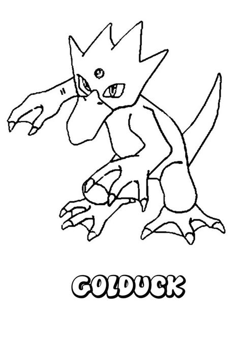 Kleurplaat Go Water by Water Coloring Pages Golduck And
