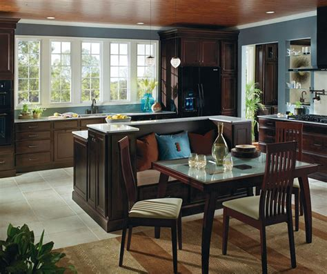 kitchen island with cabinets and seating java cabinets featuring a kitchen island with seating