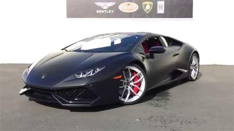 Matte Black Lamborghini Huracán