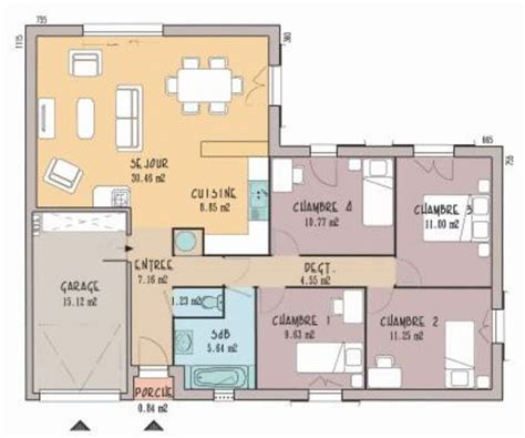 plan maison 3 chambre best 20 plan maison 3 chambres ideas on plans