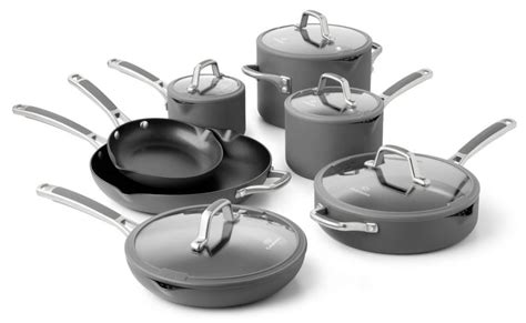 calphalon easy system nonstick cookware set  piece cutlery