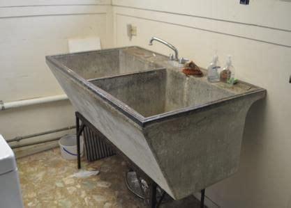 original antique concrete washlaundry tub material