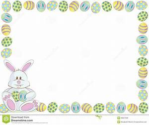 Easter Bunny Border stock illustration. Illustration of ...