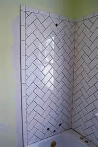 4x16 subway tile herringbone bathroom remodel lemon grove avenue