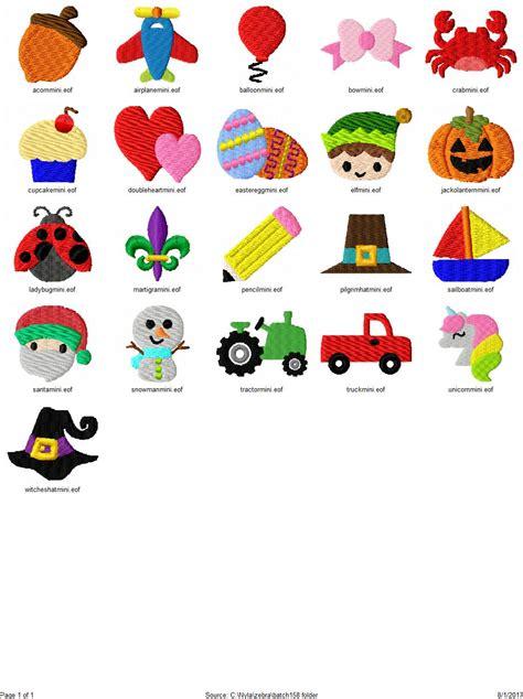 mini embroidery designs set of 21 mini embroidery designs bundle 2 1 quot mini