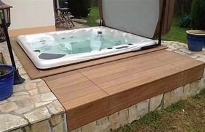 Jacuzzi En Bois : jacuzzi bois exterieur pour terrasse awesome terrasse ~ Nature-et-papiers.com Idées de Décoration
