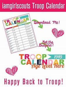 troops calendar and student centered resources on pinterest With girl scout calendar template