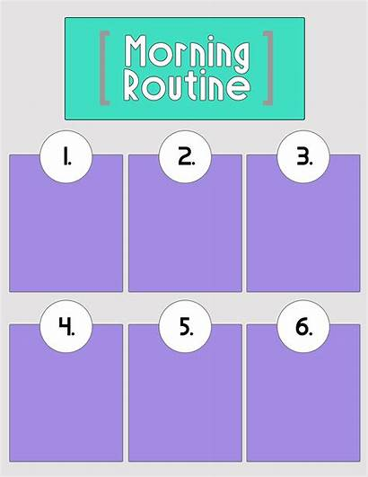 Routine Morning Clipart Classroom Printable Blank Printables