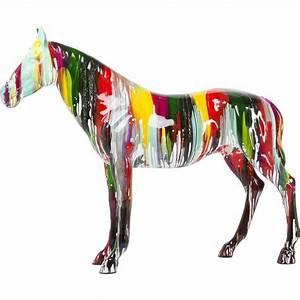 Deco Multicolore : d co cheval multicolore xxl kare design ~ Nature-et-papiers.com Idées de Décoration