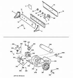Ge Gas Dryer Backsplash  Blower  U0026 Moto     Parts