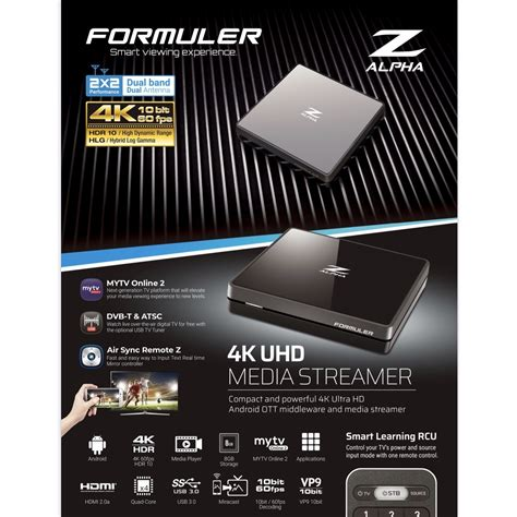 formuler alpha uhd iptv android dual band media
