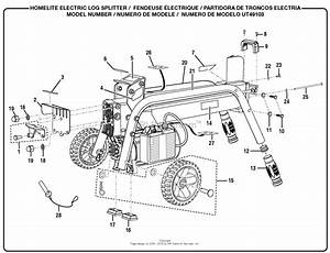 Homelite Electric Log Splitter Ut49103 Parts Diagram For